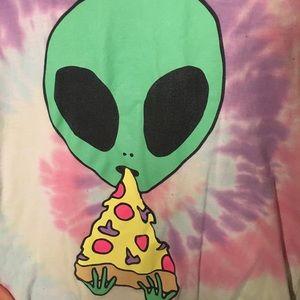 NWOT Tie-Dye Alien Cutoff